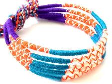 Lot 5 Bracelets Brésiliens de l'Amitié Macramé coton Friendship bleu violet