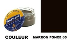 CIRAGE CUIR CHAUSSURE POMMADIER MARRON FONCE 05 SAPHIR AVEL
