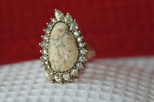 Statement Ring w/ Crystals Size-9 (R150Bgag-9) Chloe & Isabel Ring (new) Stone