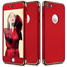 iPhone 7/ 6S Plus Ultra-Slim Shockproof Hard Case Cover Tempered Glass For Apple