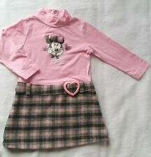 Filles Robe Minnie Mouse /& Mickey Mon cœur appartient Disney baby 6 To 23 mois