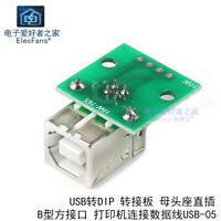2 x USB Type B Female Socket Breakout Board 2.54mm Pitch Adapter Connector DIP