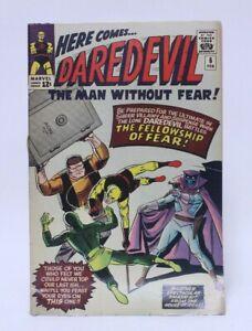 VINTAGE MARVEL COMICS DAREDEVIL COMIC BOOK ISSUE #6 1ST APP. OF MR. FEAR
