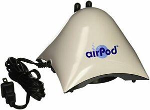 Penn Plax Air Pod Aquarium Air Pump Ultra Quiet Compact Dome Shape Dual Air Outp