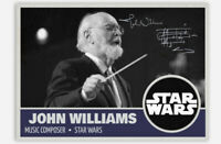 "JOHN WILLIAMS ""SIGNED"" RP ""AUTOGRAPH"" CUSTOM TRADING CARD STAR WARS COMPOSER"