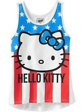 70% OFF! OLD NAVY GIRLS HELLO KITTY STARS & STRIPES TANK TOP MEDIUM 8-9Y $16.94