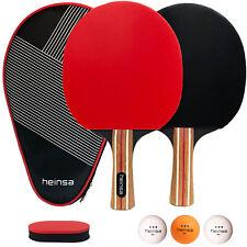 heinsa Profi Tischtennis Set - 2 Tischtennisschläger Set mit 3 Bällen & Tasche