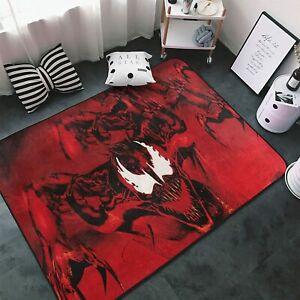 Venom Let There Be Carnage Area Rug Living Room Bedroom Flannel Floor Mat Carpet