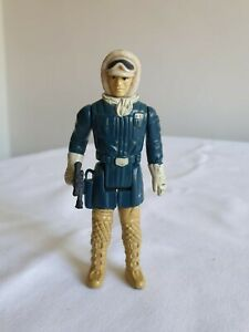 Vintage Kenner 1980 Star Wars Han Solo Hoth Gear pale face variant action figure