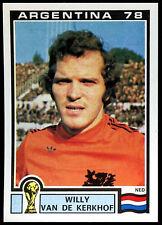 Argentina 78 Willy Van Der Kerkhof #122 World Cup Story Panini Sticker (C350)
