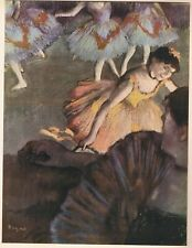 "Edgar Degas print: ""A BALLET SEEN FROM AN OPERA BOX"" 1885 8"" x 10"""