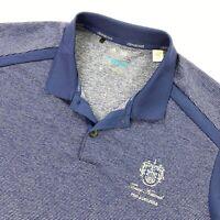 NEW Trump National Men's Adidas Climacool Golf Polo Shirt Blue Stripes • Large
