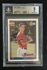 1991 Topps #333 CHIPPER JONES Atlanta Braves rookie card BGS 9