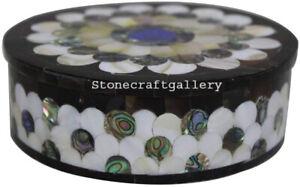 "5"" Marble Ring Jewelry Box semi precious Stone Handmade Pietradura Art Work"