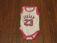 Baby Girl's Nike Air Jordan White Pink Bodysuit sz 0-6 Months