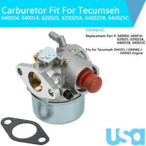 Carburetor 640025 640025C Carb Fit For Tecumseh OHH65 OHH55 OHH60 5.5 6.0 6.5 HP