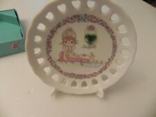 Precious Moments Decorative Plate August Birthstone & stand