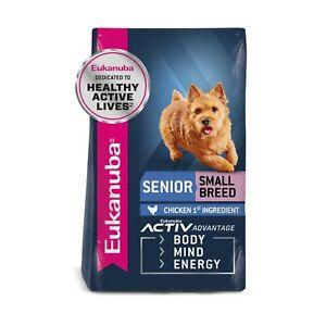 Eukanuba Senior Dry Dog Food Chicken - Small Breed 15 lb Standard Packaging