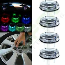 4X Car Solar Wheel Center Cap Tire Valve Rim Hub LED Colorful Flashing led light