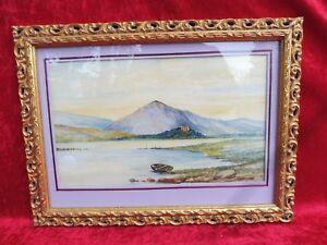 schönes,altes Bild_Aquarell_Seelandschaft: Loch Awe (Schottland)_J.Campbell 1922