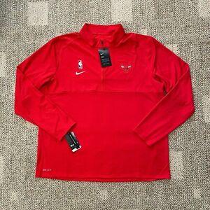 Men's 2XL Nike Dry Half Zip Basketball Top Shirt NBA Chicago Bulls  AT9263-657