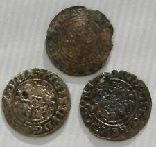 P+ 3 x solidus szeląg Zygmunt III Waza, Gustaw Adolf 1625 i 1626 silber