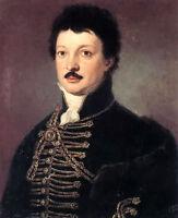 Oil painting hermann kern - Male portrait of poet daniel berzsenyi no framed art