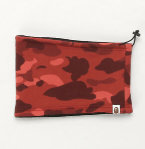 AUTHENTIC A BATHING APE BAPE COLOR CAMO NECK WARMER RED NEW SALE