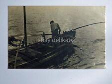 TRIESTE pescatore barca vela foto Furlani vecchia cartolina 6