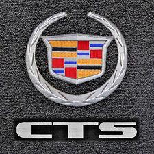 Classic Loop™ Ebony FLOOR MAT SET 2003-2007 Cadillac CTS *Logos on Front Mats