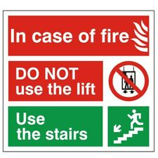 In Case Of Fire Do Not Use The Lift Sign 150mm x 150mm Self Adhesive Vinyl