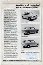 Datsun Nissan Cherry 100A 1971-72 UK Market Launch Leaflet Sales Brochure