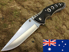 large folding tactical survival hunting camping fishing pocket knife bowie