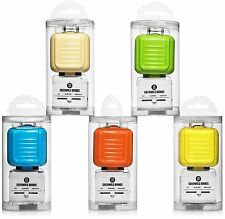 Universal International Power Travel Plug Adapter Dual USB Charging Ports, Green