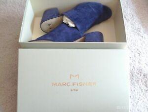 Marc Fisher Women's Slides  BNWB  Size: 9, Medium  Navy Blue  Genuine Suede