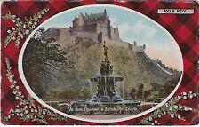 Rob Roy Tartan, Castle & Ross Fountain, EDINBURGH, Midlothian