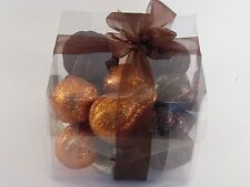 Box Black Silver Orange Pumpkin Squash THANKSGIVING DECORATION HALLOWEEN FALL