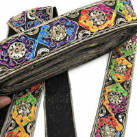 1 Yard Colorful Lace Ribbon Lace Trim DIY Embroidered Sewing Decoration Ethnic