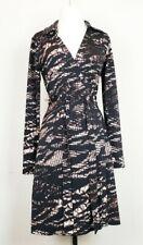 New listing Calvin Klein 6 Wrap Dress Black Brown Reptile Print Misses