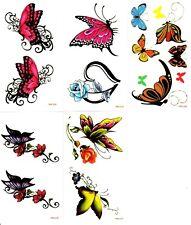 lot de 5 petites planches de tatouages temporaires lot 38