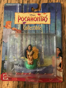 Pocahontas 1995 Disney Collectible Figurine Kneeling sunflowers Mattel