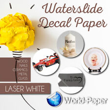 Laser Waterslide Decal Paper White For Dark Colored Surfaces 85x11 5 Sheets