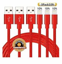 SUANNA IPHONE CABLE 3 PACK 10 FT NYLON BRAIDED