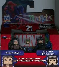 Marvel Minimates Amazing Spiderman Aunt May and Lizard Trooper MINT