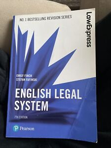 Law Express: English Legal System, 7th edition by Emily Finch