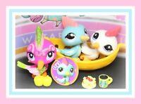 ❤️AUTHENTIC Littlest Pet Shop LPS 1787 2340 2435 WOODPECKER Bird Sparkle Lot❤️