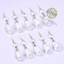 10Pcs Clear Crystals Chandelier Lamp Lighting Part Prisms Hanging Drops Pendants