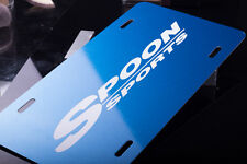 SPOON SPORTS METALLIC BLUE Aluminium License Plate
