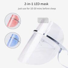 2 Colors LED Light Photon Facial Mask Skin Face Rejuvenation Wrinkle Therapy