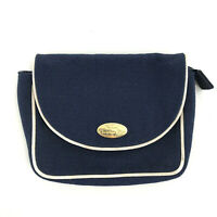 Vintage Christian Dior Parfums Pouch Small clutch Bag in Blue & White